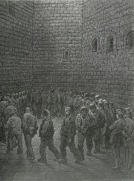 Newgate Prison Exercise Yard, Gustave Doré