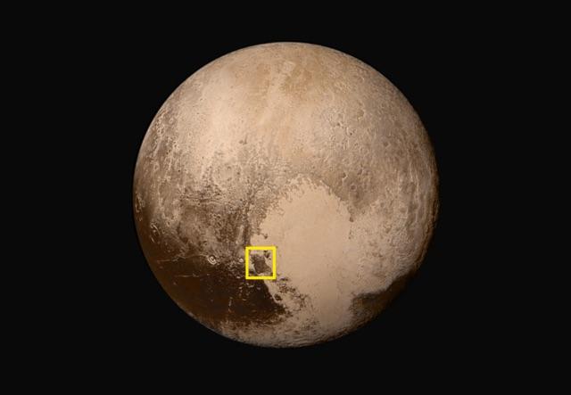 Baret Montes, Pluto