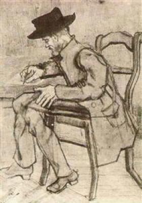 Man Writing, van Gogh