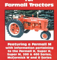 farmall h m 300 400 tune up video dvd for the case ih 300 400 h m model tractor s  [ 1200 x 1716 Pixel ]