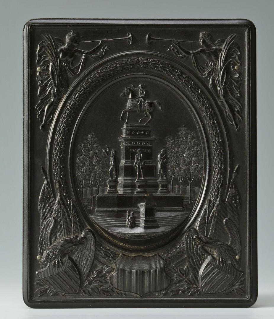 1862 Confederate Seal Medallion Gilded Copper
