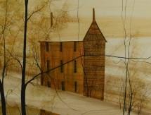 Lot 531 . Buckley Moss Watercolor Landscape