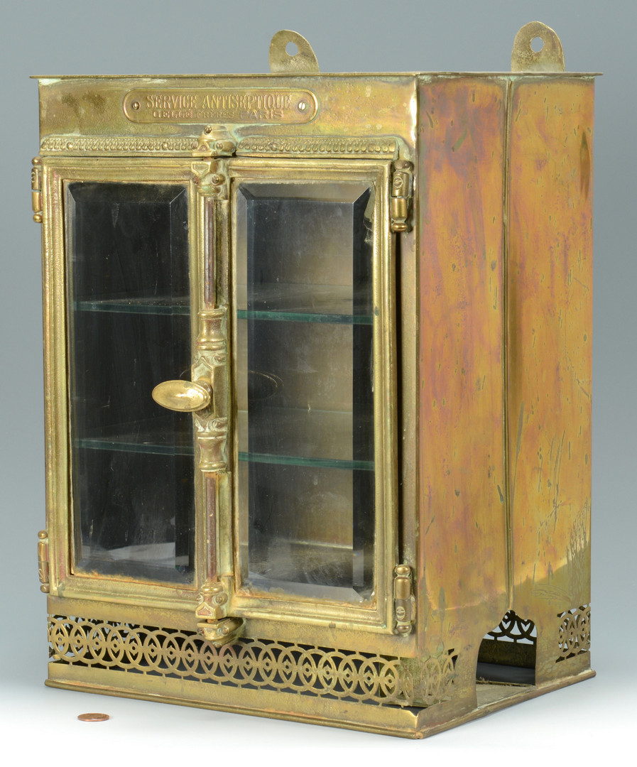 Lot 445 French Brass Perfume Cabinet 19th c
