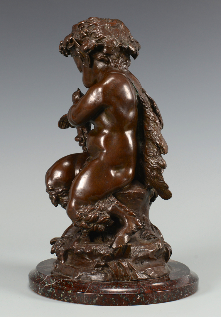 Lot 219 Bronze Child Satyr Sculpture