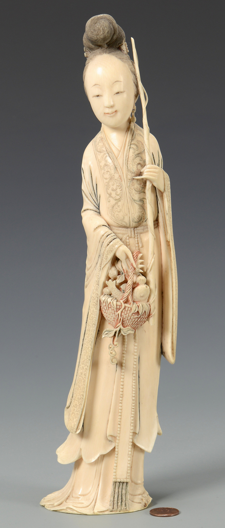 Lot 22 Large Chinese Carved Ivory Quan Yin Figure