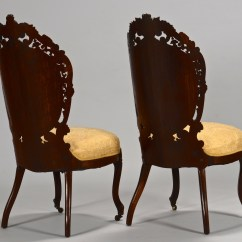 Victorian Rosewood Chairs Chair Covers Hawaii Lot 281 2 Laminated