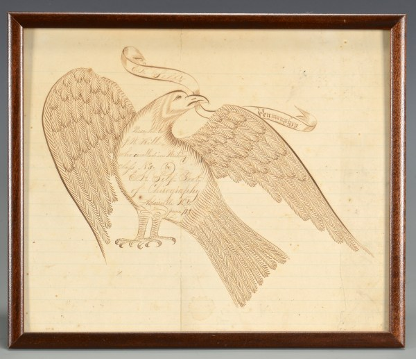 Lot 297 Ky Calligraphy Drawing Witheagle