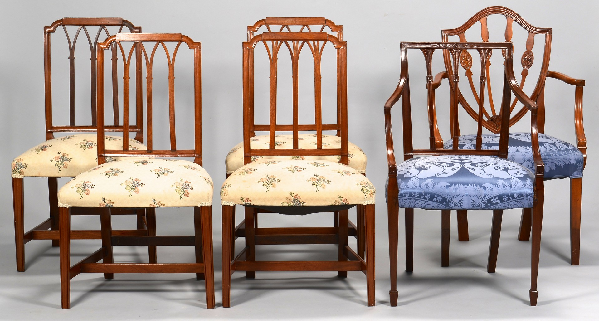 federal dining chairs antique koken barber chair for sale lot 630 six american style