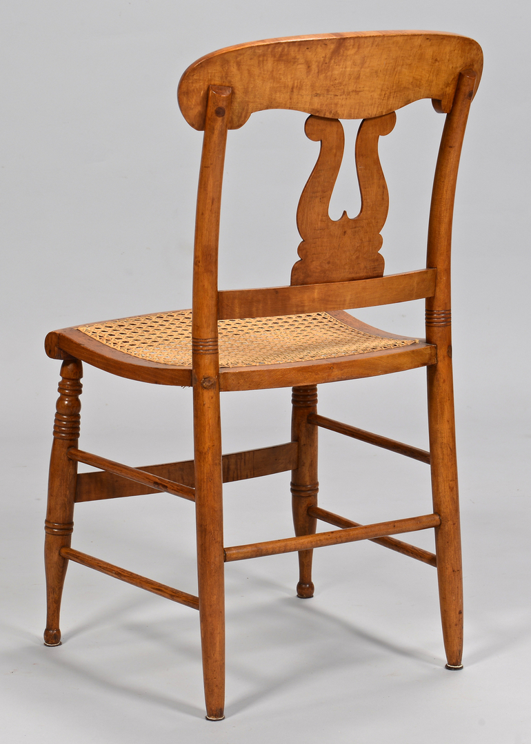 queen anne style chair caning repair cost lot 635: set of 6 sheraton tiger maple chairs