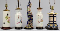Lot 713: 5 Chinese Style Lamps