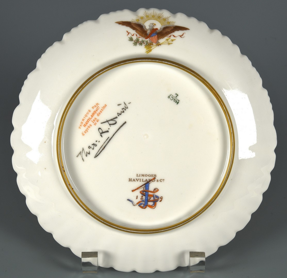 Lot 580 Rutherford B Hayes Official White House China Pla