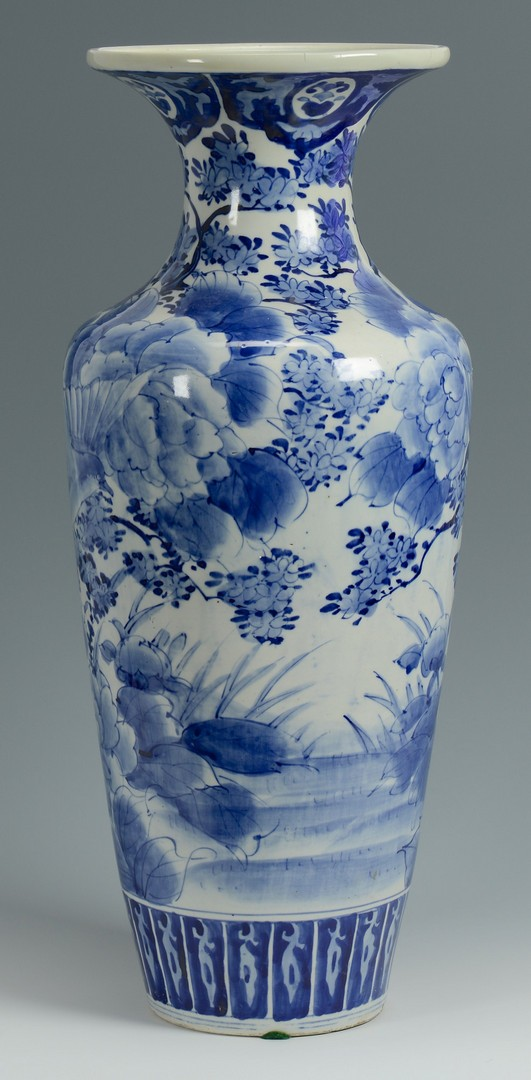 Lot 776 Japanese Arita Blue  White Floor Vase