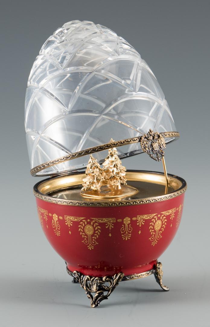 Lot 699 Faberge Limoges Christmas Egg