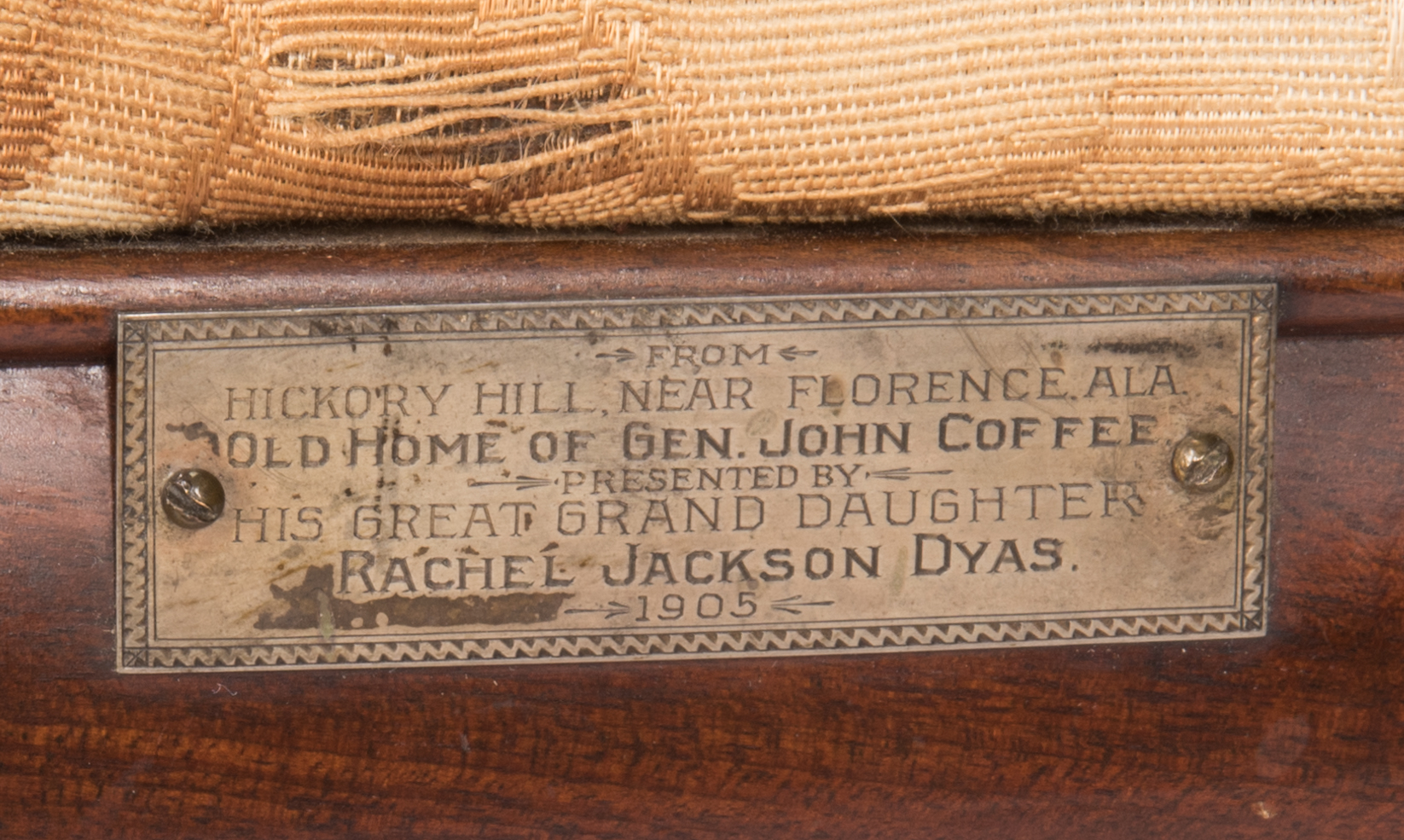 Lot 111 2 Federal Chairs Gen Coffee Provenance