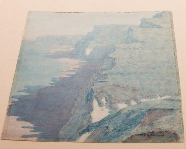 Lot 143 Thomas Meteyard Watercolor Pastel Coastline