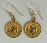 Lot 145: Pr. Shah of Iran Gold Coin Earrings