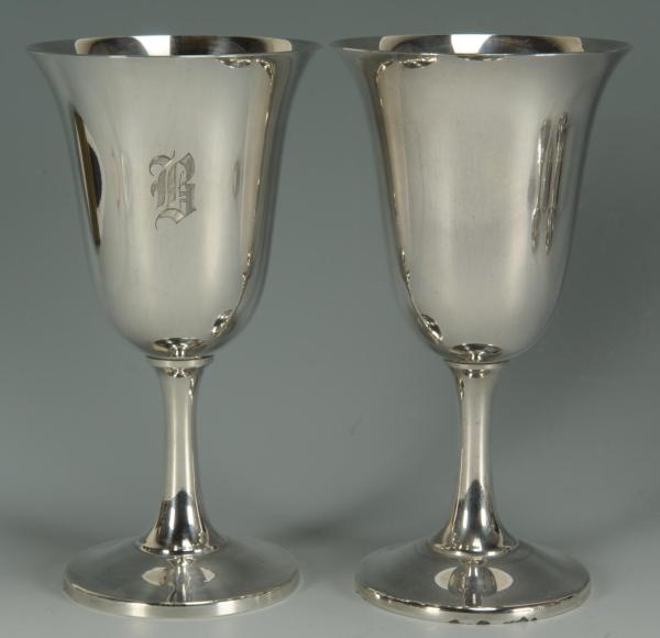 Lot 75 12 Wallace Sterling Silver Goblets
