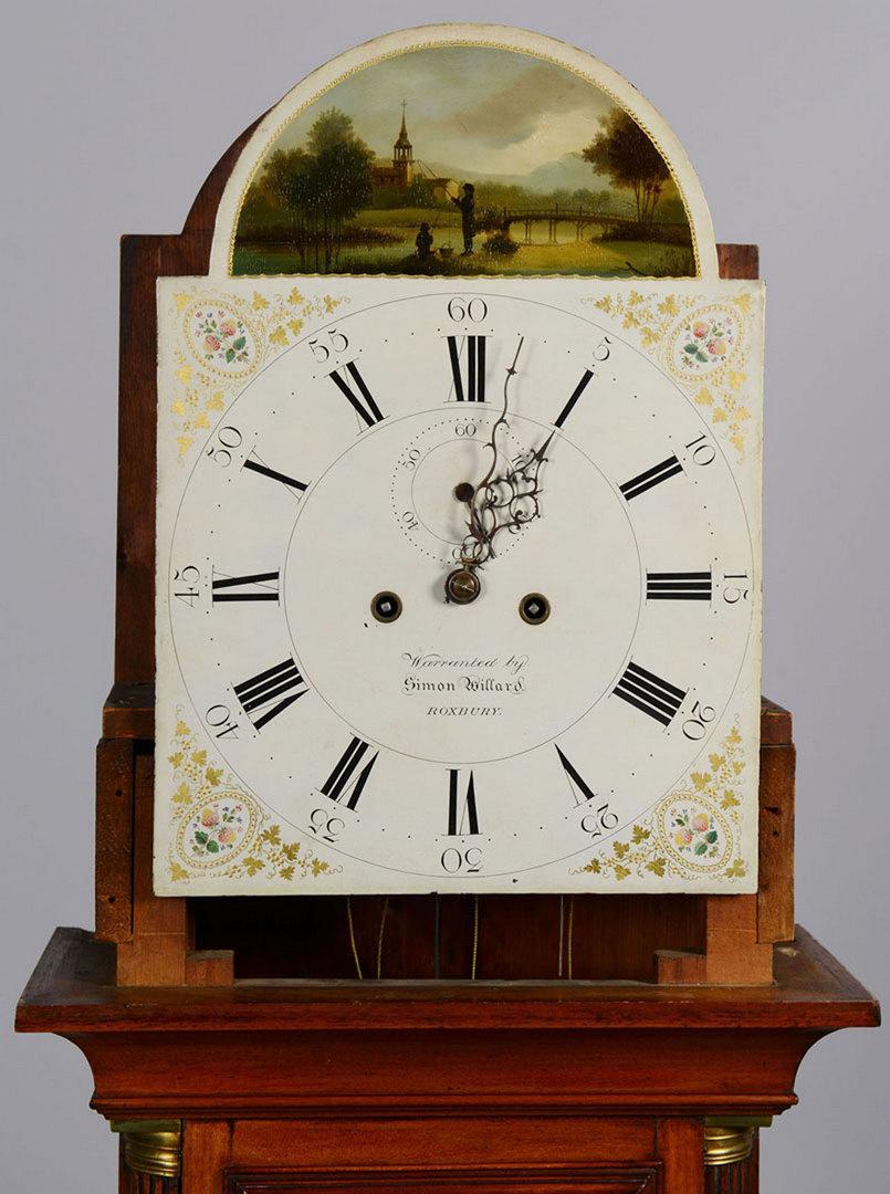 Lot 152 Simon Willard Labeled Tall Case Clock