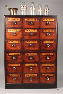 Lot 111 Apothecary Cabinet With Items