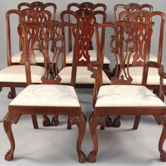 Maitland Smith Dining Chairs Chair That Turns Into A Bed Lot 514 Assembled Set 8 Hickory And