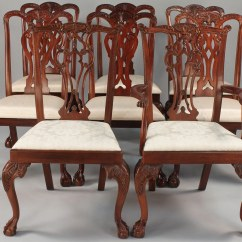 Maitland Smith Dining Chairs Do It Yourself Patio Chair Cushions Lot 514 Assembled Set 8 Hickory And