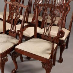 Maitland Smith Dining Chairs Black Chair And Ottoman Lot 514 Assembled Set 8 Hickory
