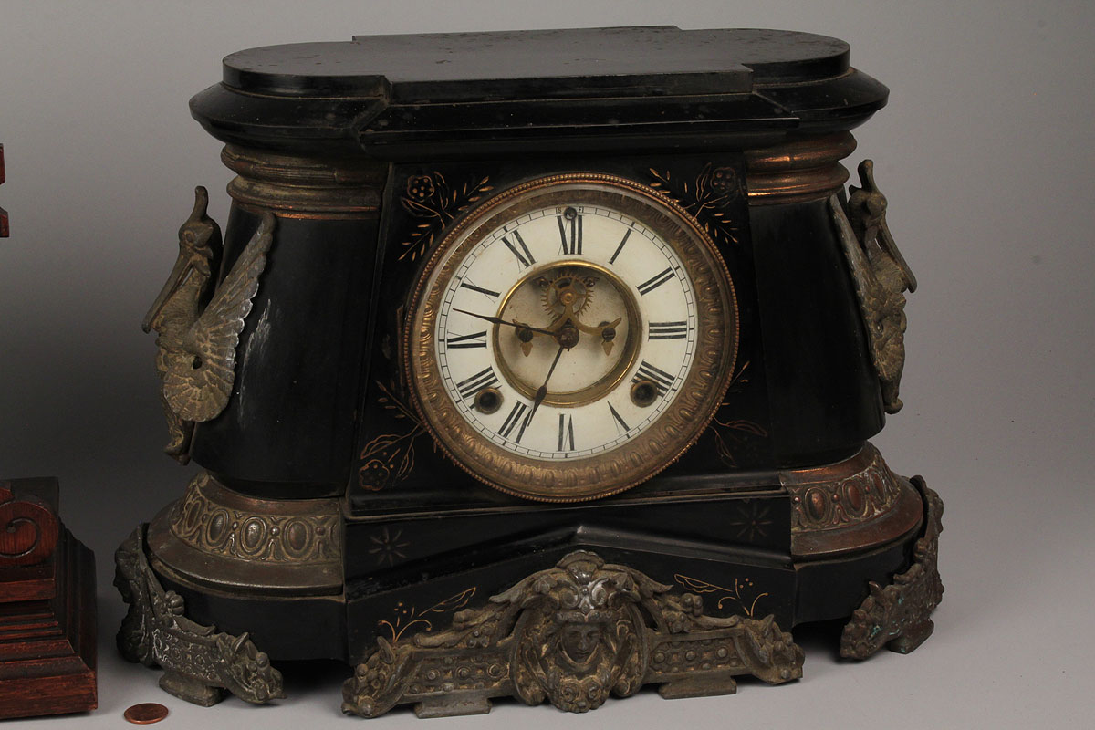 Lot 574 Lot Of 2 Mantel Clocks Ansonia Amp Seth Thomas