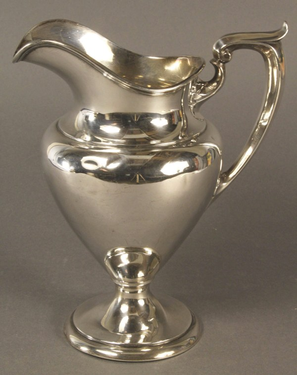 Lot 591 Gorham Sterling Silver Water Pitcher