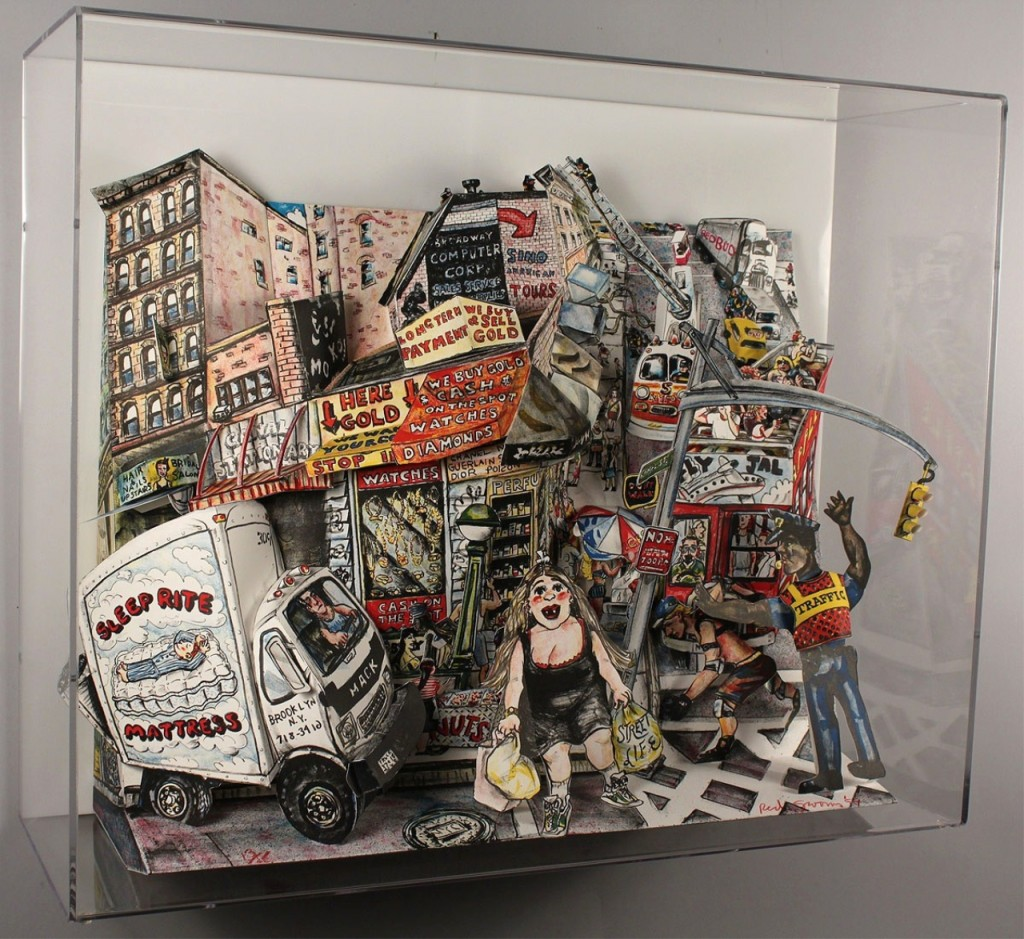 Lot 317 Red Grooms 3D sculpture Street Scene