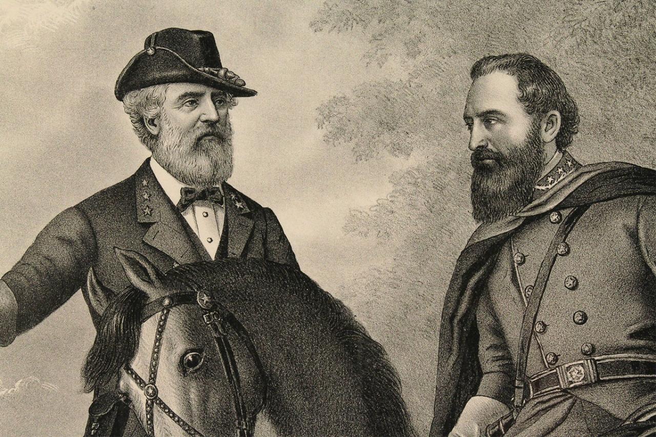 Lot 63 Civil War Print Gen Lee Amp Stonewall Jackson