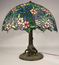 Handel marked lamp and shade, possibly Unique Art Glass Co.
