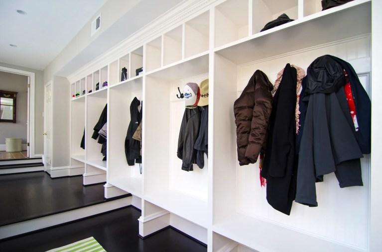 large mudroom coat hooks cubbies compartments shoe storage for kids