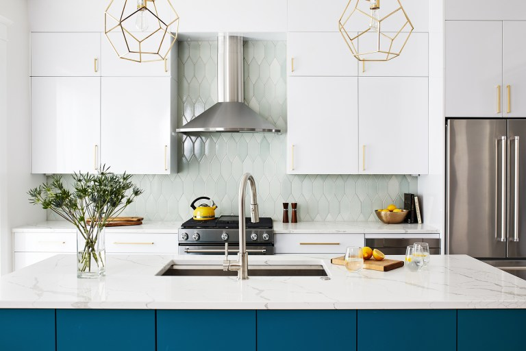gold pendant light chandelier with stainless steel wall mount range hood