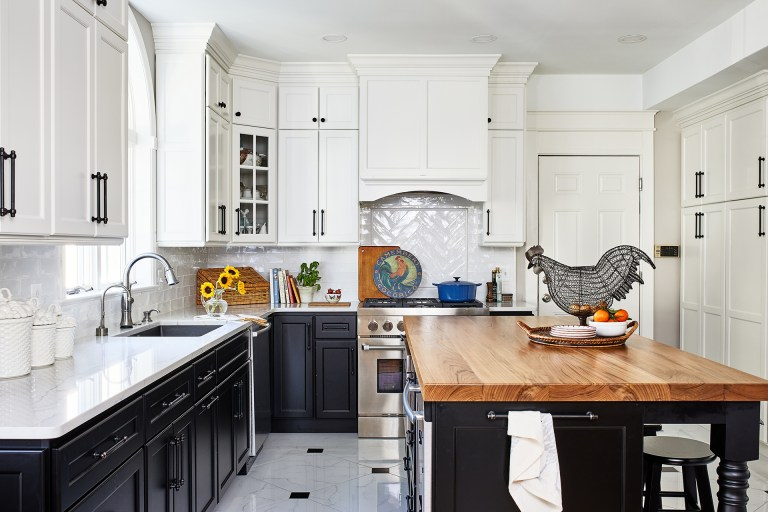 kitchen islands and butcher block top with two stools