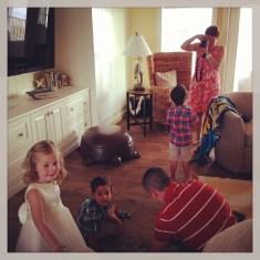 Kids upstairs