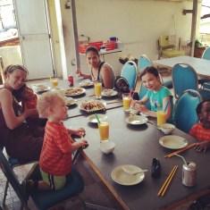 Lunch at Happy Garden, Mango Juice!