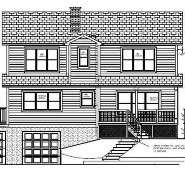 second story addition elevation drawing