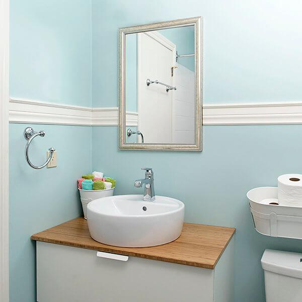 raised shink vanity kids bathroom