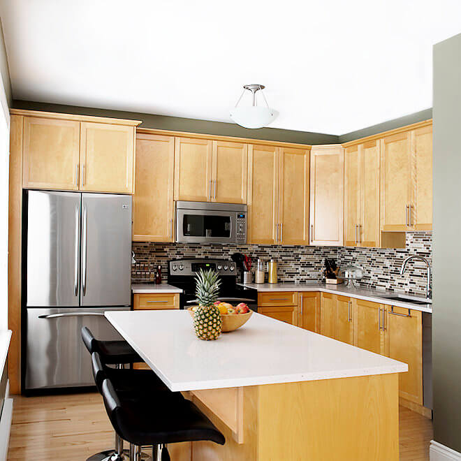 kitchen facelift rustic cabinets halifax case design remodeling tile counter top and cabinet update