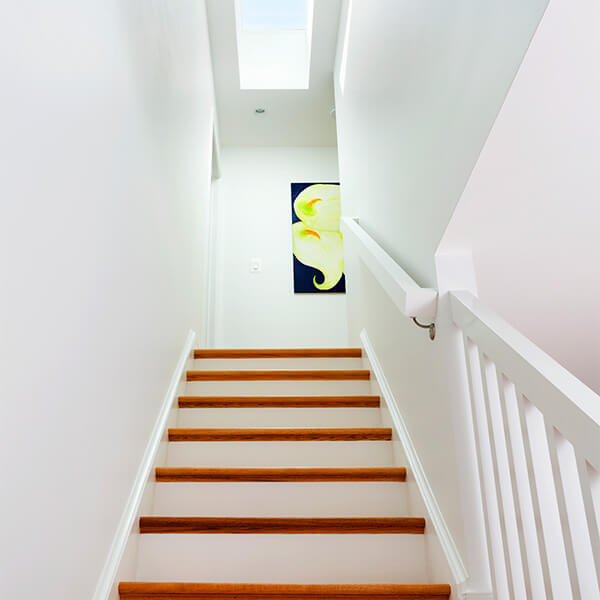 Two Story Addition stairway