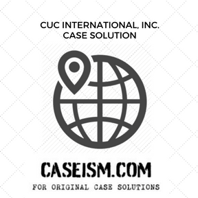 CUC International, Inc. Case Solution and Analysis, HBS