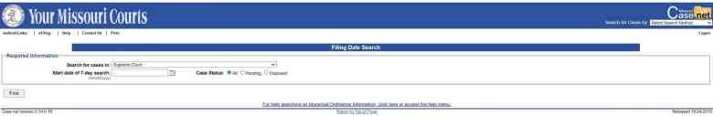 Filing date Search