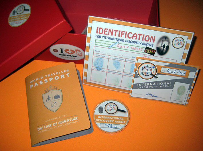 Make your own passport, discovery agent badge and ID card - CASE OF ADVENTURE .COM