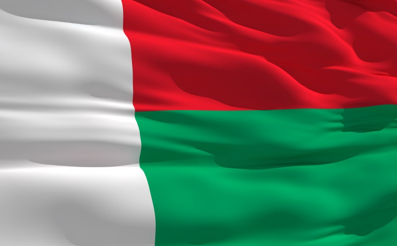 Waving flag of Madagascar, Countries for Kids, CASE OF ADVENTURE