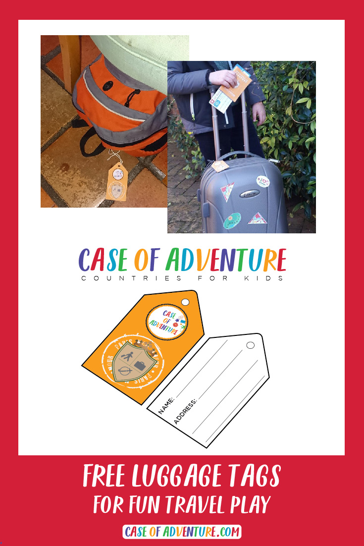 FREE Luggage Tags for Fun Travel Play from CASE OF ADVENTUREå