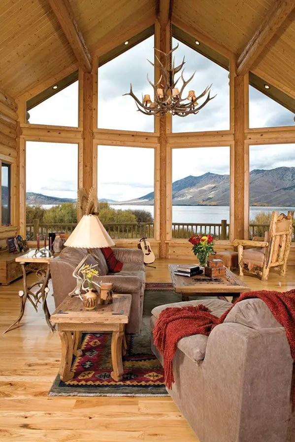 modern style adirondack chairs black thonet chair rustic cabin interior design ideas