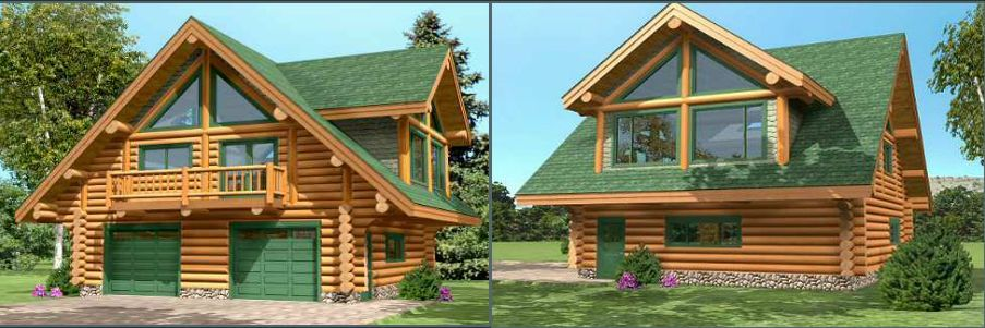 Proiecte de case din lemn rotund Log homes plans and designs 13  Case practice