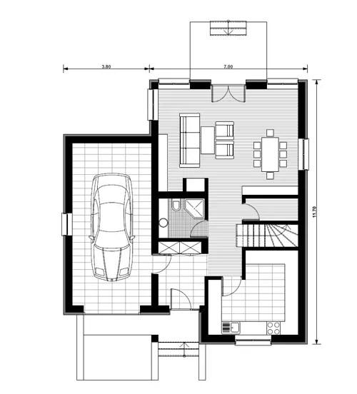 Proiecte de case mici cu mansarda locuinte de vis fara for Planuri de case
