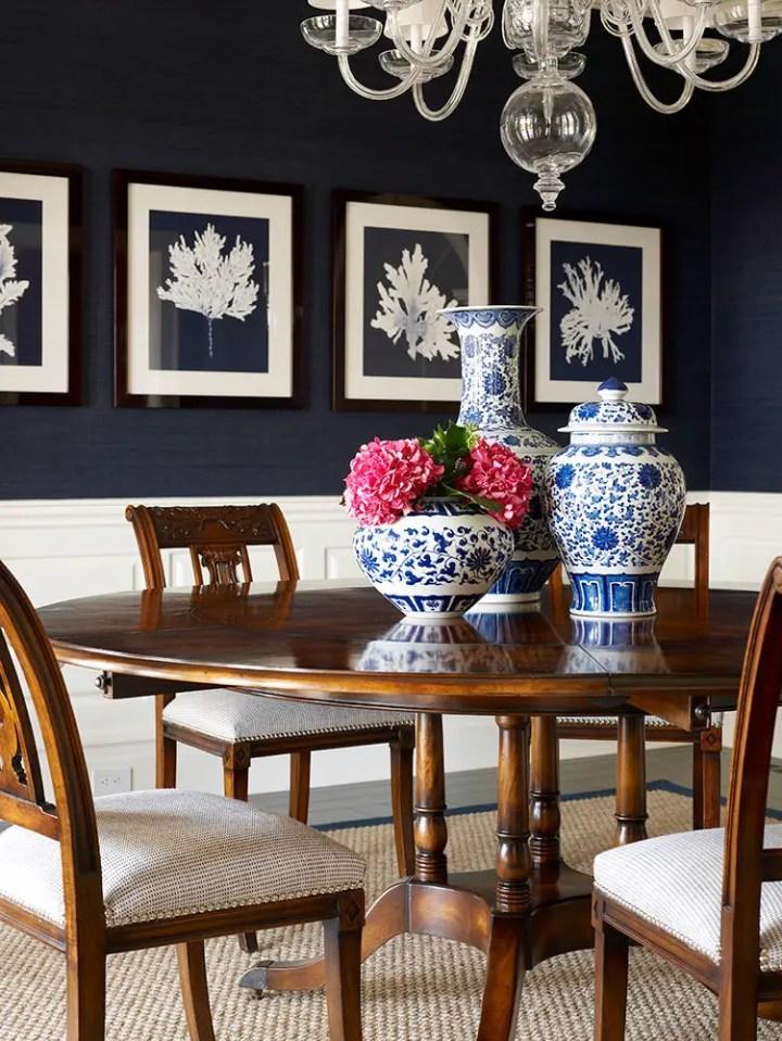Albul si albastrul in design interior des intalnite
