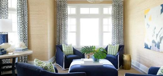 Albul si albastrul in design interior un mode clasic